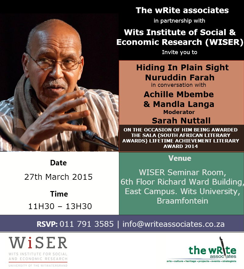 Nuruddin Farah In Conversation With Mbembe n Langa (1)