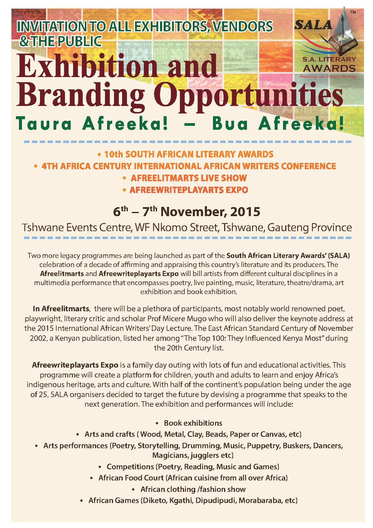 INVITATION TO ALL EXHIBITORS - the wRite associstes